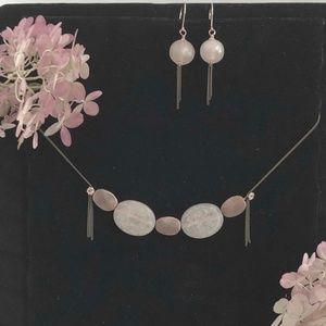 Handmade OOAK Copper Beads Necklace & Earrings Set